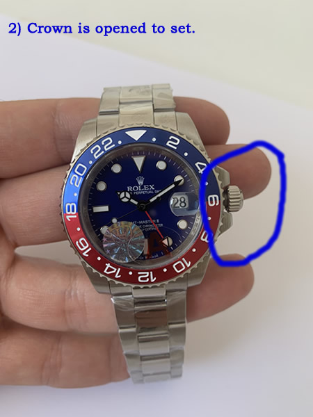 how to set fake watch