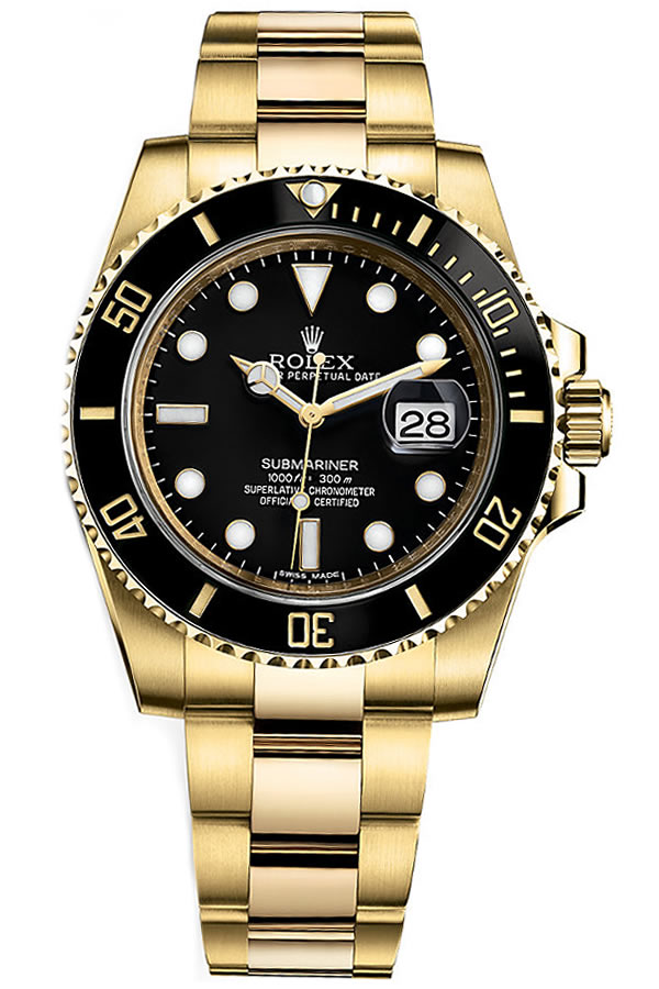 Fake Rolex Submariner All Gold, Steel and Gold