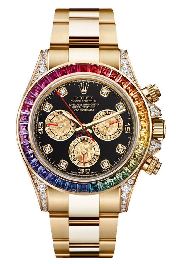 Fake Rolex Rainbow Yellow Gold