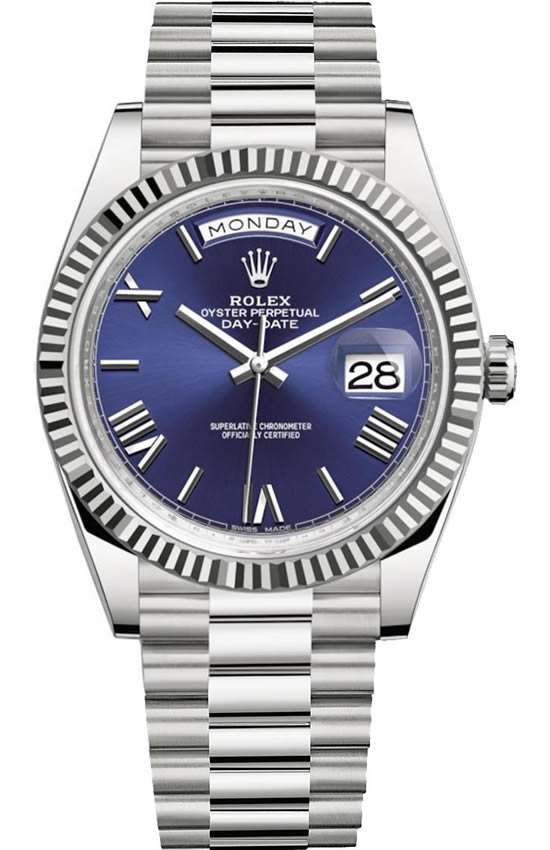 Fake Rolex Day-Date Blue