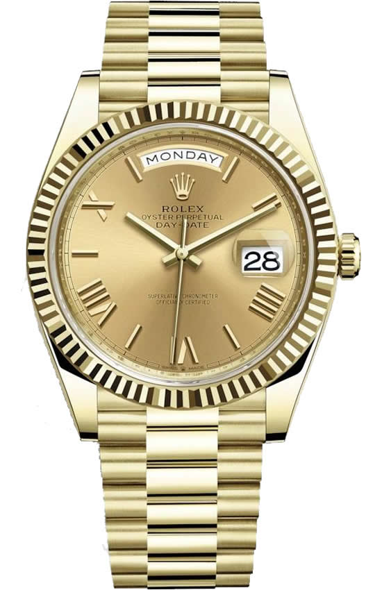 Fake Rolex Day-Date All Gold
