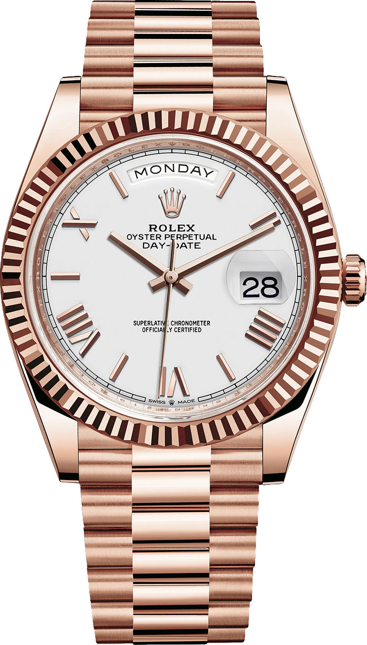 Fake Rolex Day-Date Rose White
