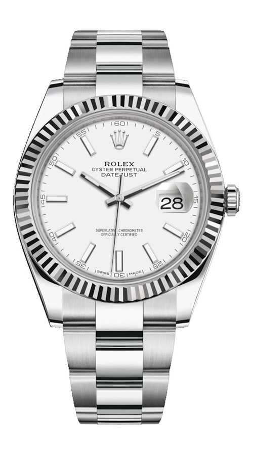 Fake Rolex Date-just white