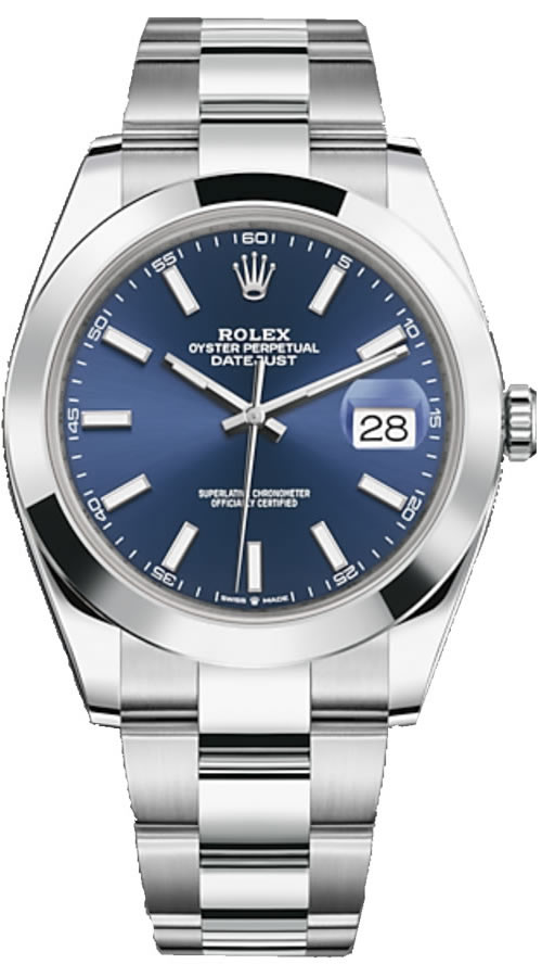 Fake Rolex Date-Just Steel Blue