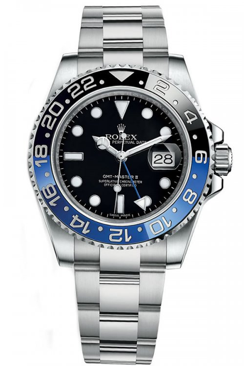 Fake Rolex new GMT- Master2 116710 Black and Blue